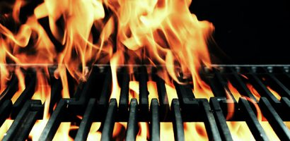 Fire on grill | Get Gritty Nutrition