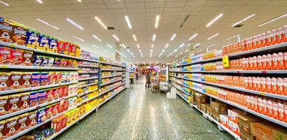 Grocery store aisle | Get Gritty Nutrition
