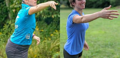 Woman disc golf putting | Get Gritty Nutrition