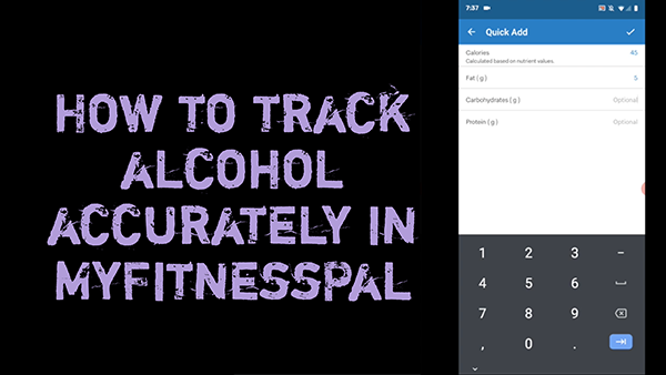 How to track alcohol accurately in MyFitnessPal | Get Gritty Nutrition